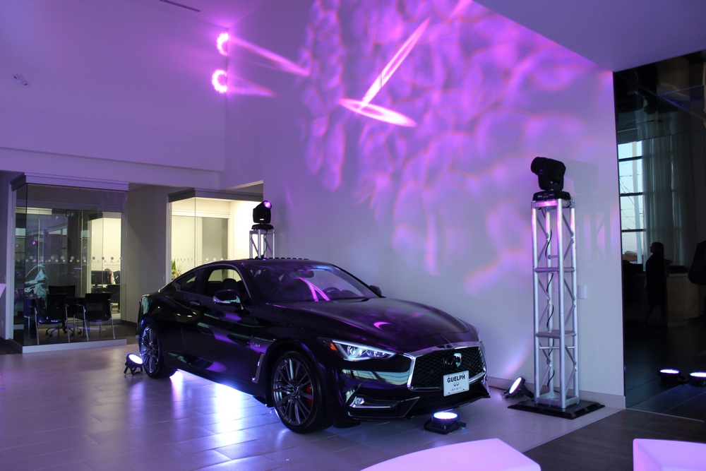 Infiniti Q60 Coupe on display at the Guelph Infinitin Grand Opening