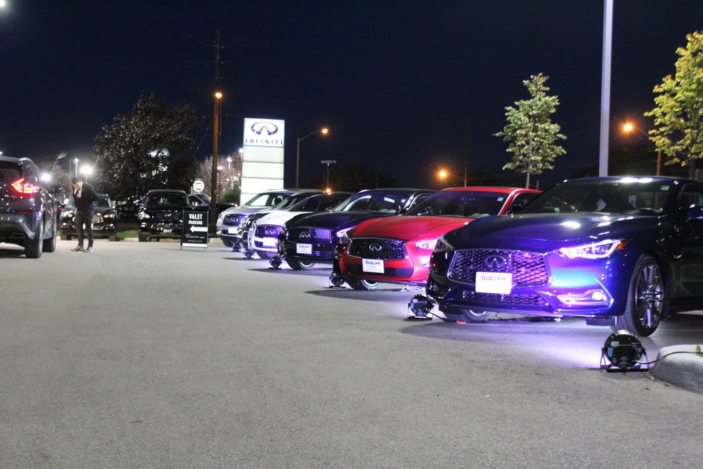 Our full line of luxury vehicles on display as you enter our drive-way. Q60, Q50, Q70, QX30, QX50, QX60, and QX80
