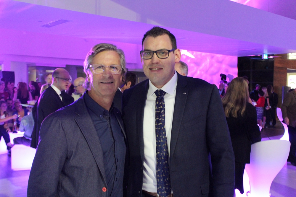Guelph Infiniti Owner and President Glen Yates (Left) with Kyle Wierzbicki - Infiniti National General Manager (Right)
