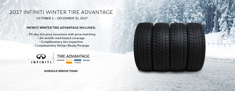 2017 Infiniti Winter Tire Advantage From October 1- December 31st.