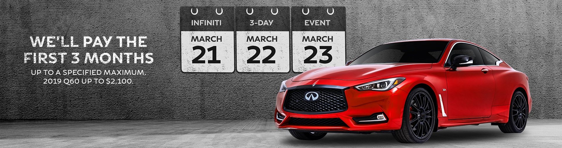 Infiniti Black Friday Event, November 21st to 23rd